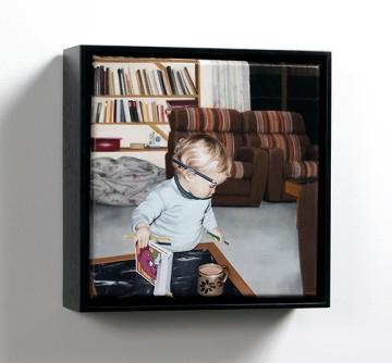Victoria Reichelt, 1981, 18 x 18cm (1 of 2 parts), 2013, oil on linen (Courtesy of Dianne Tanzer Gallery, Melbourne & Jan Murphy Gallery, Brisbane)